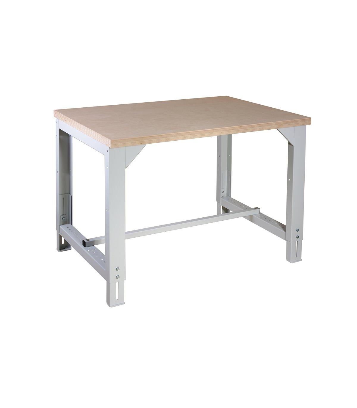 Table-établi réglable en hauteur sans tiroir