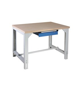 Table-établi réglable en hauteur avec tiroir
