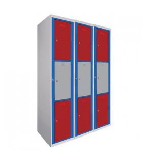 Armoire visitable 3 colonnes 3 cases