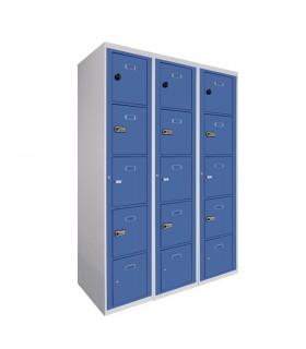 Armoire visitable 3 colonnes 5 cases