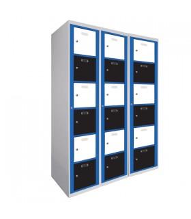 Armoire visitable 3 colonnes 6 cases