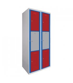 Armoire visitable 2 colonnes 3 cases