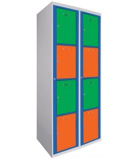 Armoire visitable 2 colonnes 4 cases