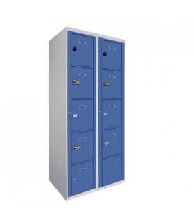 Armoire visitable 2 colonnes 5 cases