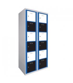 Armoire visitable 2 colonnes 6 cases