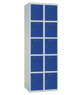 Armoire casier 2 colonnes 5 cases L250mm à monter