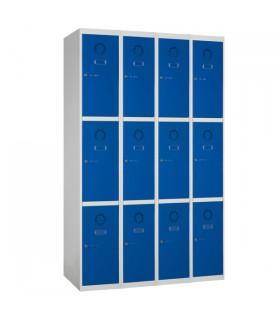 Armoire casier 4 colonnes 3 cases L300mm à monter