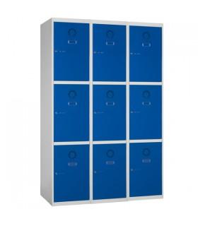 Armoire casier 3 colonnes 3 cases L400mm à monter