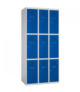 Armoire casier 3 colonnes 3 cases L300mm à monter