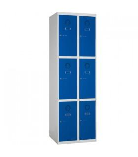 Armoire casier 2 colonnes 3 cases L400mm à monter