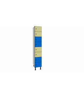 Armoire casier en stratifié 8 cases L300mm