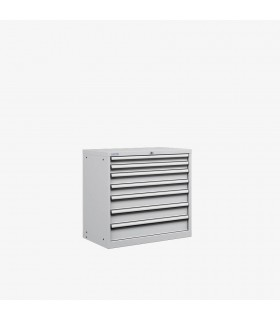 Armoire 7 tiroirs équipés L870xP572xH850mm