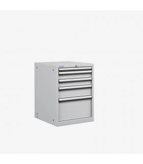 Armoire 5 tiroirs équipés L564xP725xH800mm