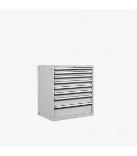 Armoire 8 tiroirs équipés L870xP725xH850mm