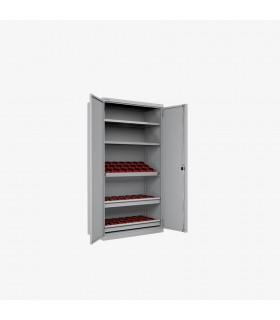 Armoire portes battantes pour outils CNC avec 3 cadres et 2 tiroirs