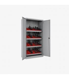 Armoire portes battantes pour outils CNC avec 4 cadres