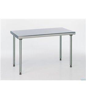 Table inox sur piétement