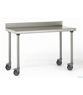 Table inox mobile avec dosseret
